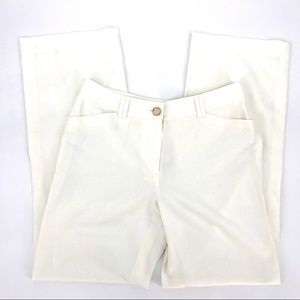 Ann Taylor Dress Pants Ivory Wide Leg Trouser